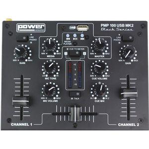 TABLE DE MIXAGE POWER ACOUSTICS - PMP 100 USB MK2 - Mixer 3 entrée