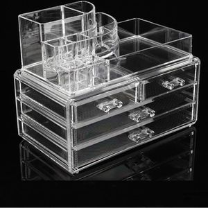 rangement maquillage transparent achat vente rangement. Black Bedroom Furniture Sets. Home Design Ideas