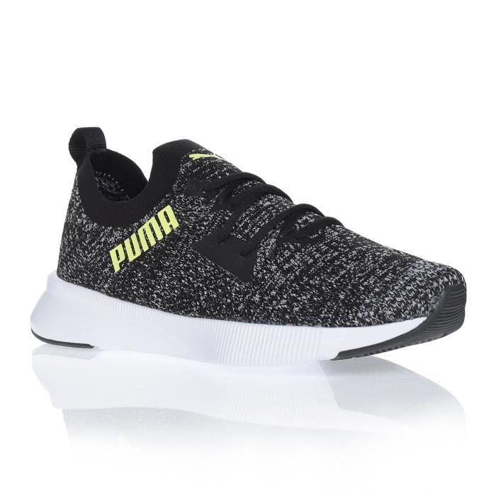 PUMA Chaussures de running FLYER RUNNER KNIT - Homme - Gris