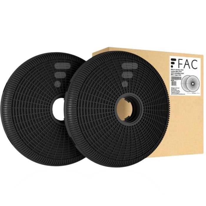 FC21 - filtre à charbon compatible hotte Airlux AHP670IX AHP670BK AHP670WH