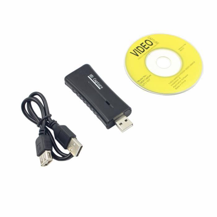 Périphérique de capture vidéo USB 2.0 HDMI Capture Card Box pour Windows