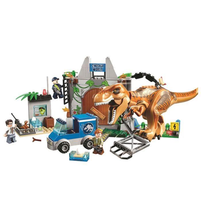LOT MINI FIGURINES JURASSIC WORLD 2 TYRANOSAURE T REX INDOMINUS JOUET COMPATIBLE LEGO