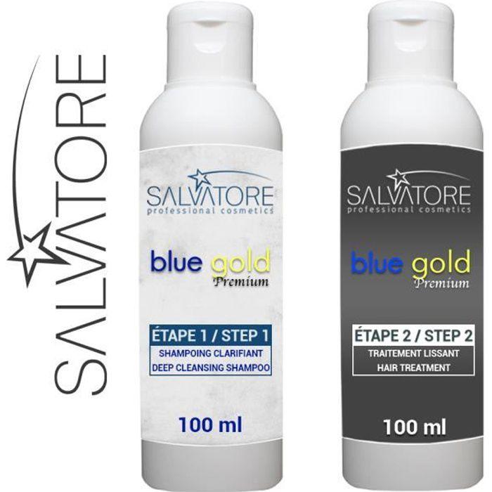 SALVATORE BLUE GOLD - TANINOPLASTIE - Lissage au Tanin ( Kit 2 x 100 ml)