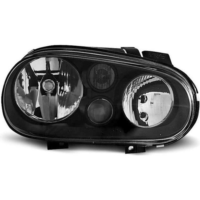 Paire de feux phares VW Golf 4 97-03 design noir (W34)