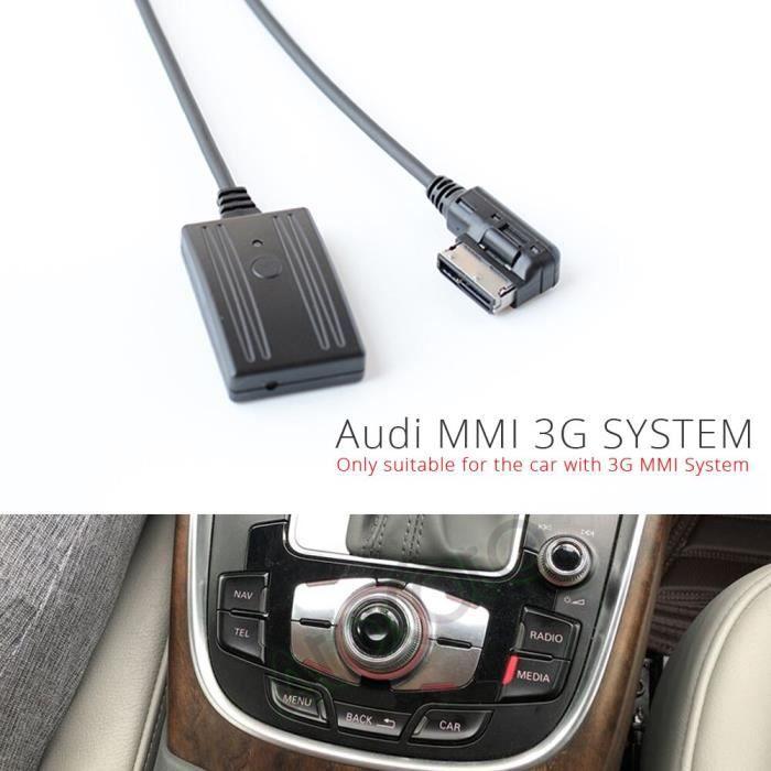 Kit de voiture avec Bluetooth 5.0, adaptateur USB pour Audi A4 A5 A6 Q5 Q7 MMI, 2G, 3G, Interface multimédia, entrée [578FC74]