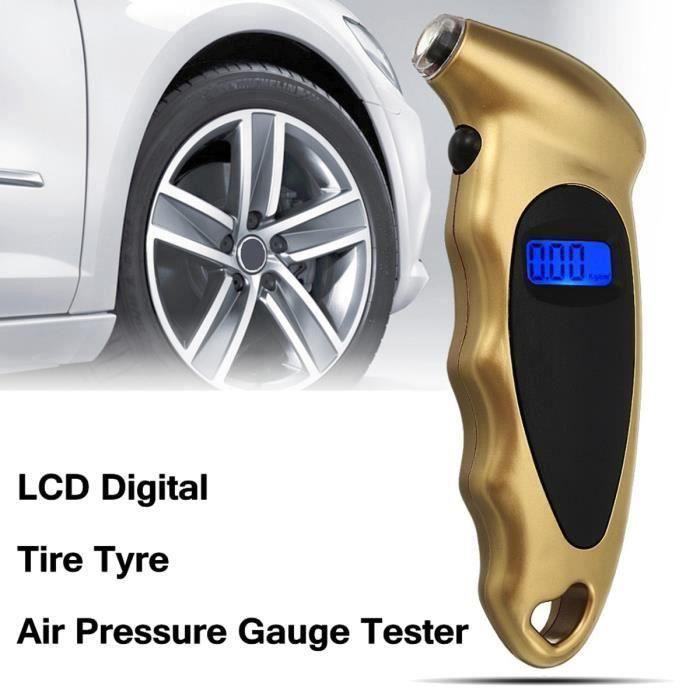 TEMPSA LCD Digital Manomètre Pression Pneu Haute précision Gauge Testeur Outil Pr Voiture Auto Moto PSI KPA BAR @SHE