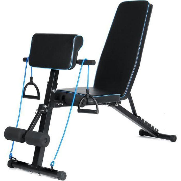 Banc de musculation Réglable Multifonction Sit-up Fitness Musculation