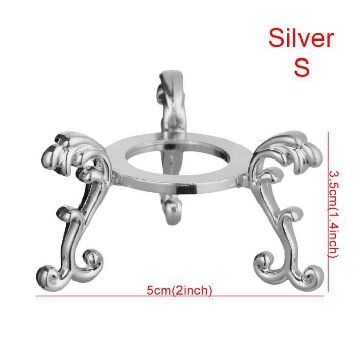 Objets décoratifs,1pc rétro acide branche bois présentoir socle pour cristal porte balle sphère Globe pierre - Type silver-S