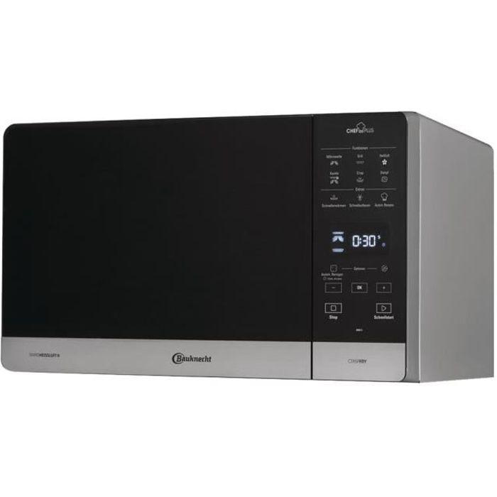 Bauknecht MW 49 SL Four micro-ondes combiné grill pose libre 25 litres 800 Watt argenté(e)