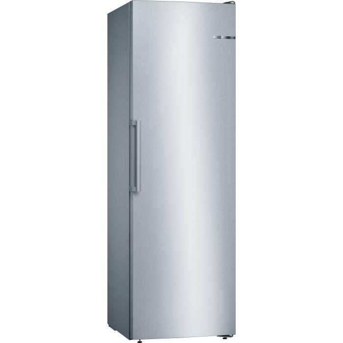 BOSCH GSN36VLFP - Congélateur armoire - 242 L - Froid no frost multiairflow - L 60 x H 186 cm - Inox