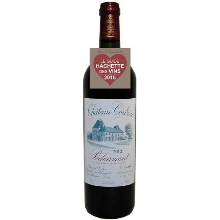 Château Corbiac Pécharmant AOC 2012 vin rouge - 1 x 75cl.