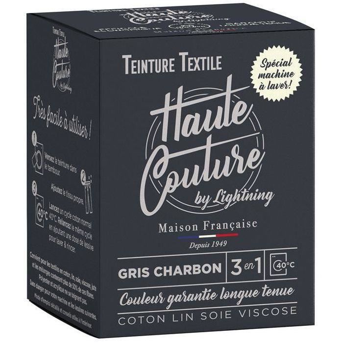 Teinture textile haute couture gris charbon 350g