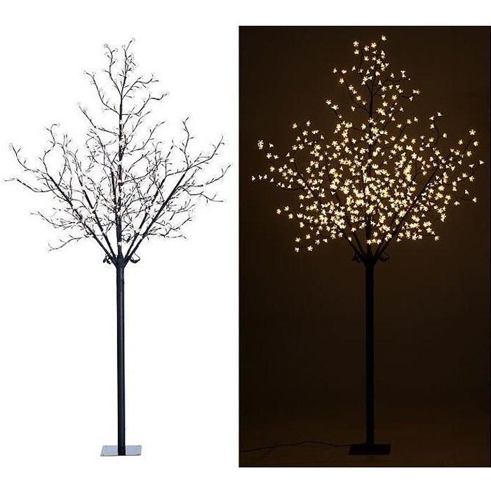 Arbre lumineux 250 cm avec 600 fleurs LED