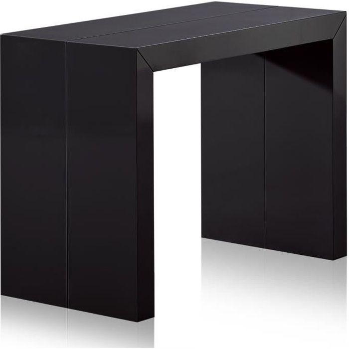 Table Console extensible Nassau L Laquée Noir