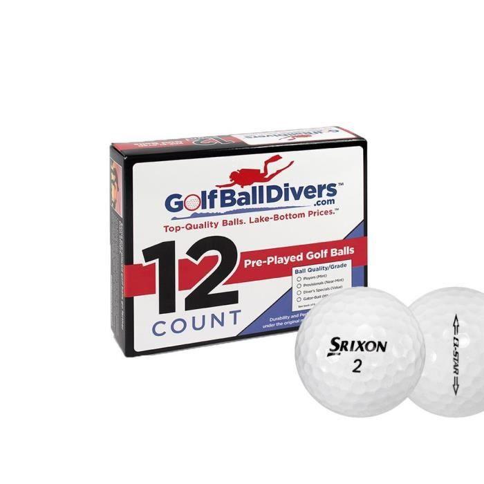 Ballon De Football Q-Star - Valeur (AAA) Grade - recyclé (occasion) Balles de golf - Paquet de 96 TS3P7 Taille-M