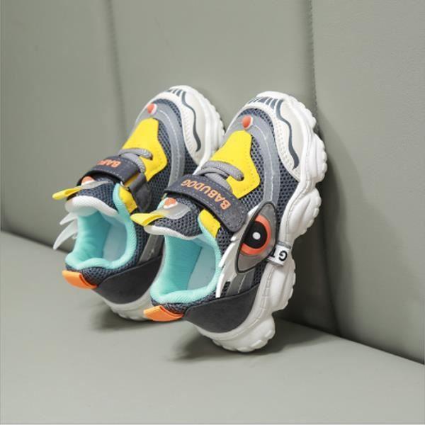 Chaussures de Sport Running Enfant Garçon Fille Velcro Sneakers Mode Respirant Légère Sneakers 22EU-31EU