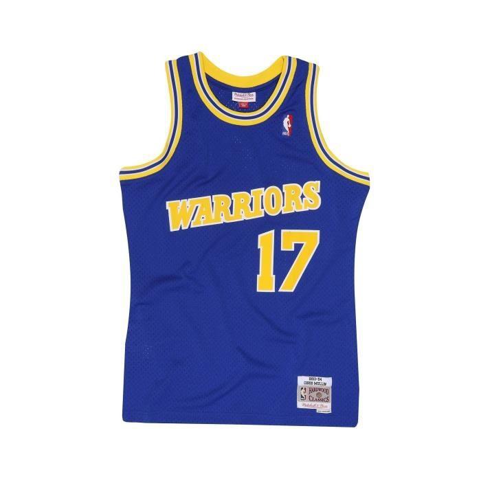 Maillot Golden State Warriors Mullin numéro 17 1993/94 Bleu 100 % Polyester