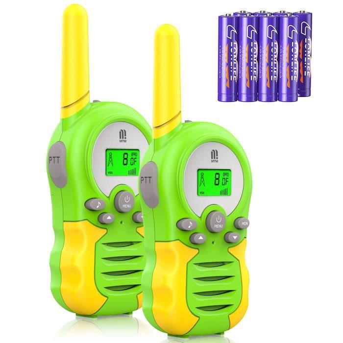 2 pcs Walkie Talkies 8CH Signal Band 446 MHz 2-Way Radio 3 Km-pour enfant