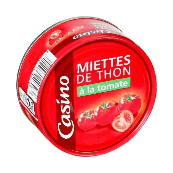 CASINO Miettes de Thon à la Tomate 160g