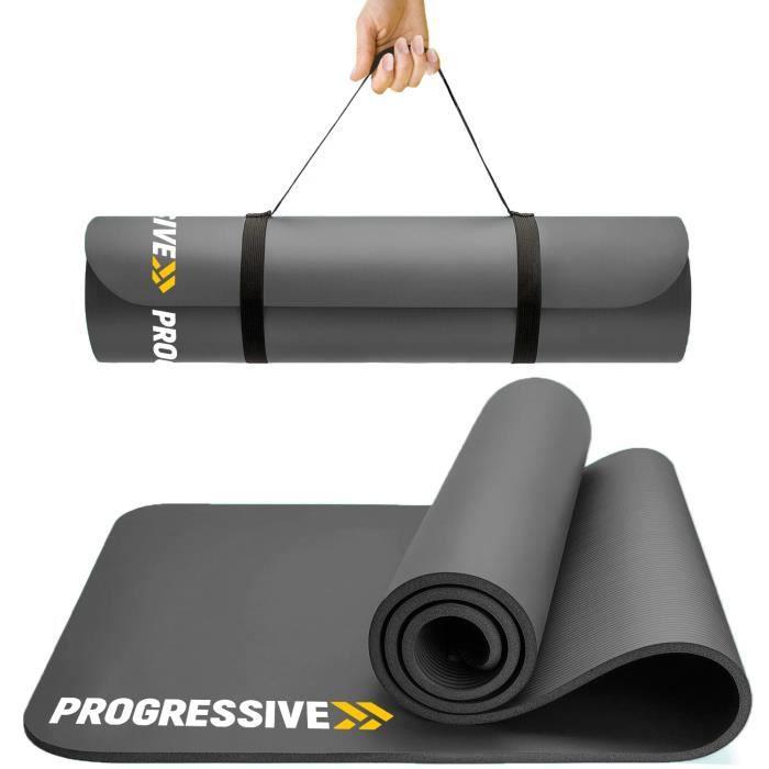 PROGRESSVIE Tapis de sol Tapis de sport Tapis de gymnastique Tapis de yoga en Mousse 183 cm x 60 cm x 1.2 cm