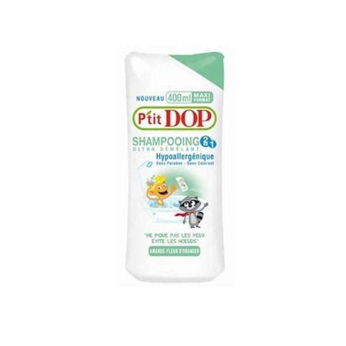 P'tit Dop Shampoing démêlant amande fleur d'oranger 400ml