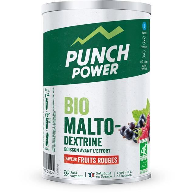 PUNCH POWER Biomaltodextrine Fruits rouges antioxydant - Pot 500 g