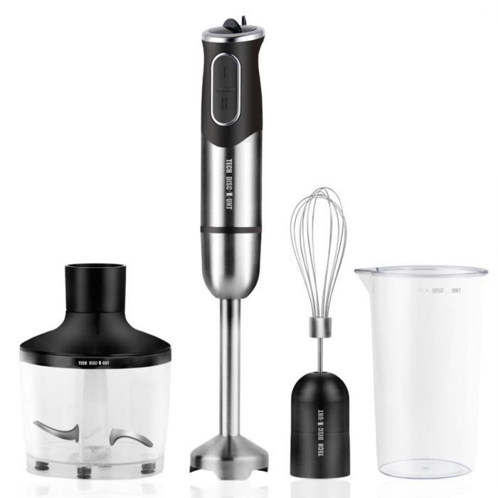 TD® mixeur plongeant soupe multifonction puree smoothie bebe blender petit acier inoxydable et batteur professionnel cuisine ustensi