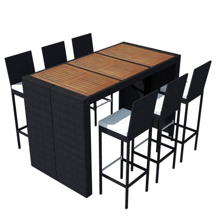 table bar salon de jardin achat vente table bar salon. Black Bedroom Furniture Sets. Home Design Ideas