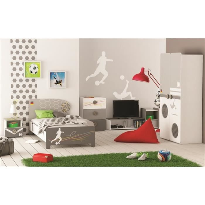 Chambre a coucher complete enfant football achat vente for Achat chambre a coucher complete