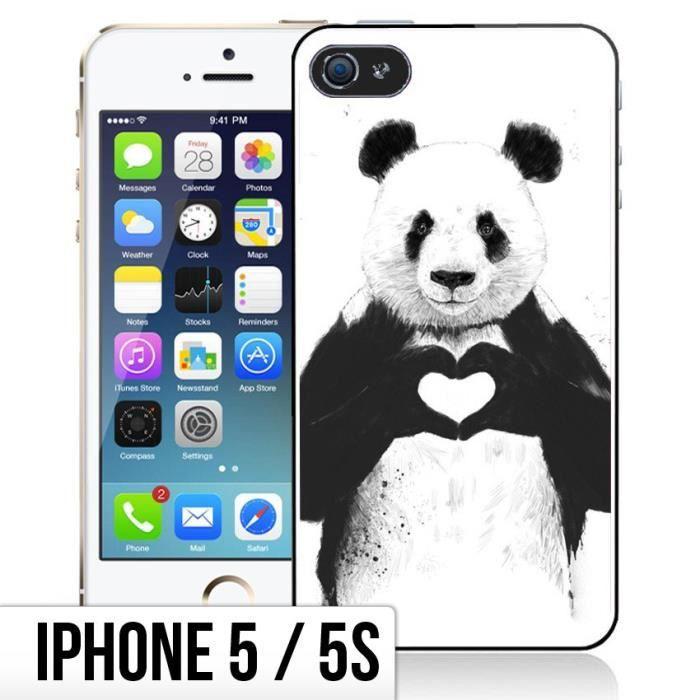 coque iphone 5 5s panda love