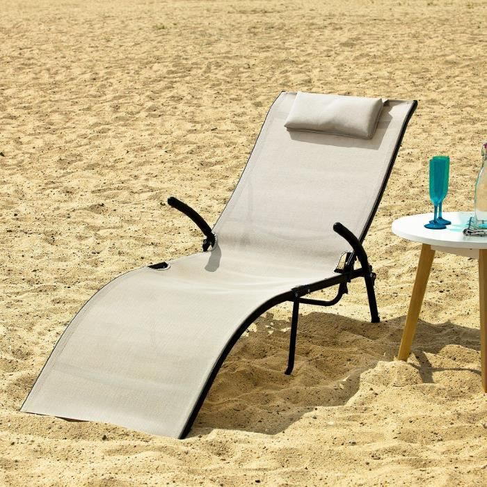 transat banc bain de soleil plage chaise longue achat vente chaise longue transat banc bain. Black Bedroom Furniture Sets. Home Design Ideas