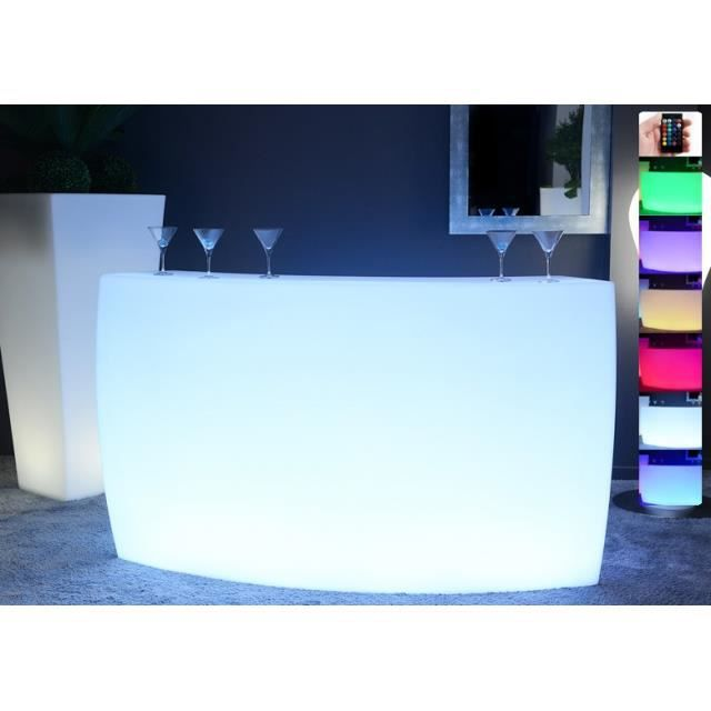 bar lumineux led multicolore krug round achat vente meuble bar bar lumineux led. Black Bedroom Furniture Sets. Home Design Ideas
