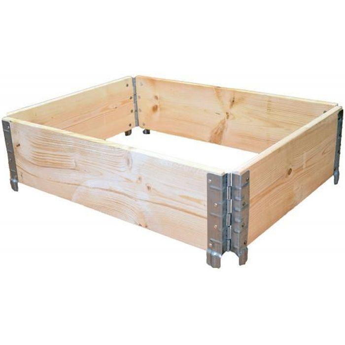 REHAUSSE PALETTE Réhausse de palette en bois naturel 800 x 600mm