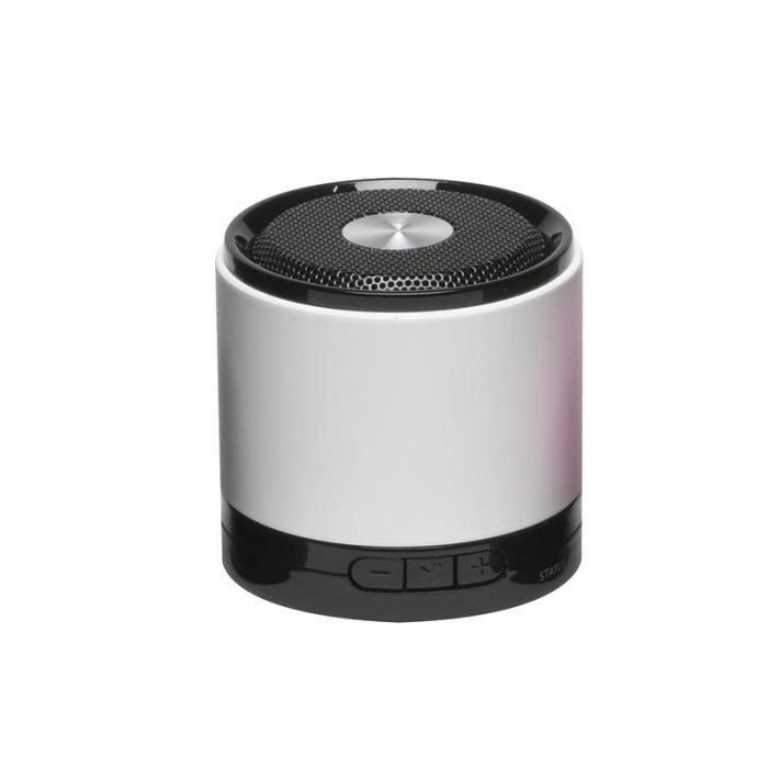 Denver Bts 30 Enceinte Bluetooth Blanc Enceinte Nomade