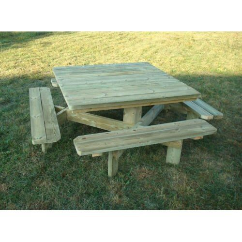 table de picnic en bois. Black Bedroom Furniture Sets. Home Design Ideas