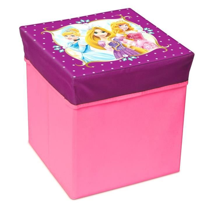 disney princess pouf de rangement rose achat vente chauffeuse pouf 3700653507495 cdiscount. Black Bedroom Furniture Sets. Home Design Ideas