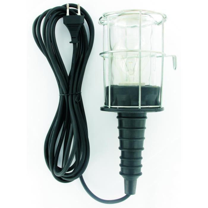LAMPE DE POCHE ELRO Baladeuse filaire antichoc 60 W