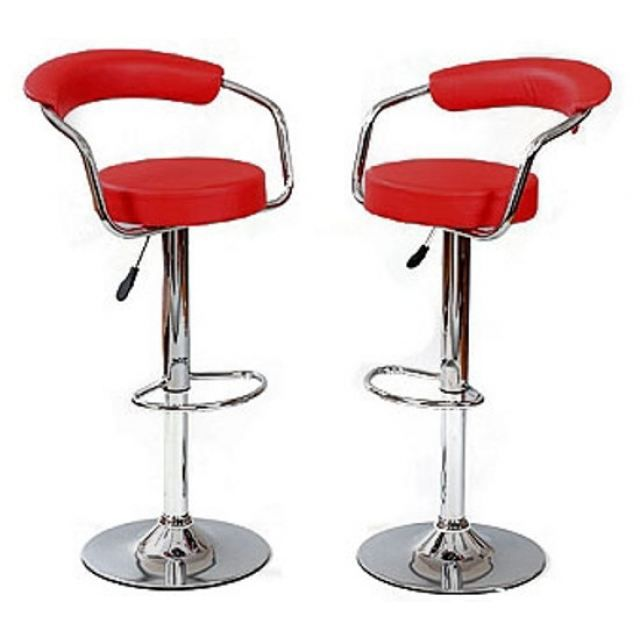Tabouret de bar rouge x 2 retro coiffeur achat vente tabouret de bar so - Tabourets de bar rouge ...