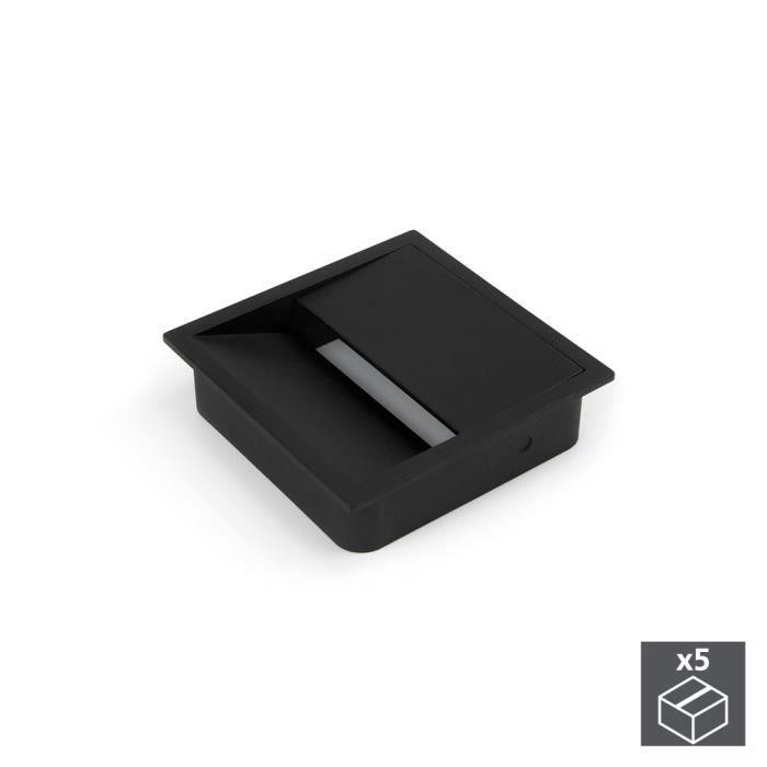 BAREBONES Emuca Passe-câbles table, carré, 85 x 85 mm, pour