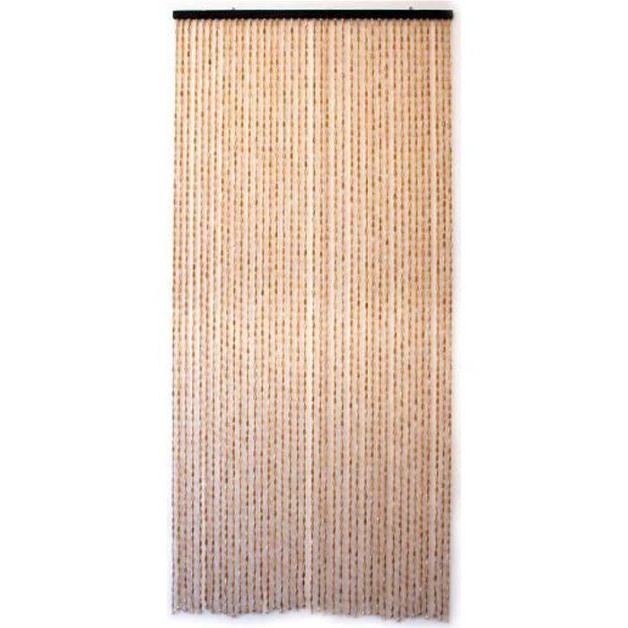 rideau de porte en bambou et perle de bois jardi