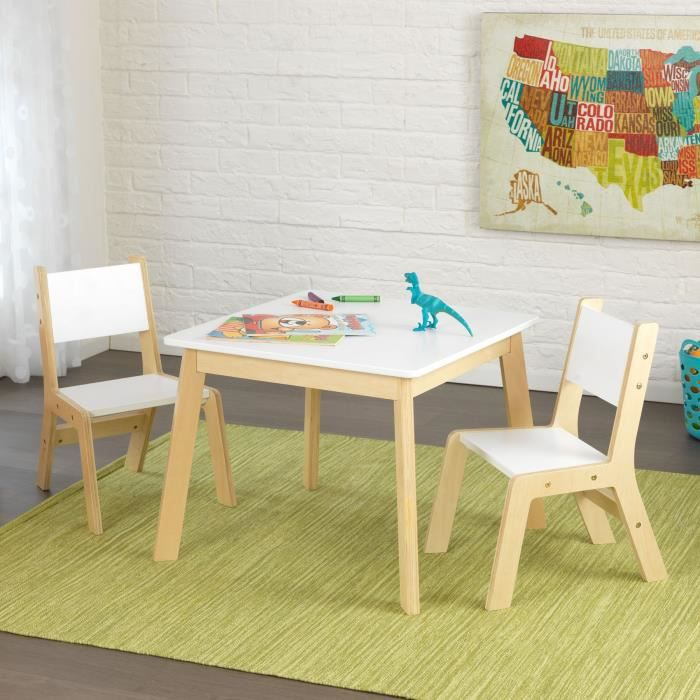 kidkraft table moderne avec 2 chaises achat vente table et chaise cdiscount. Black Bedroom Furniture Sets. Home Design Ideas