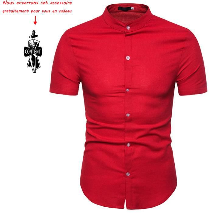 Sheet music homme boutonnée à manches courtes shirt