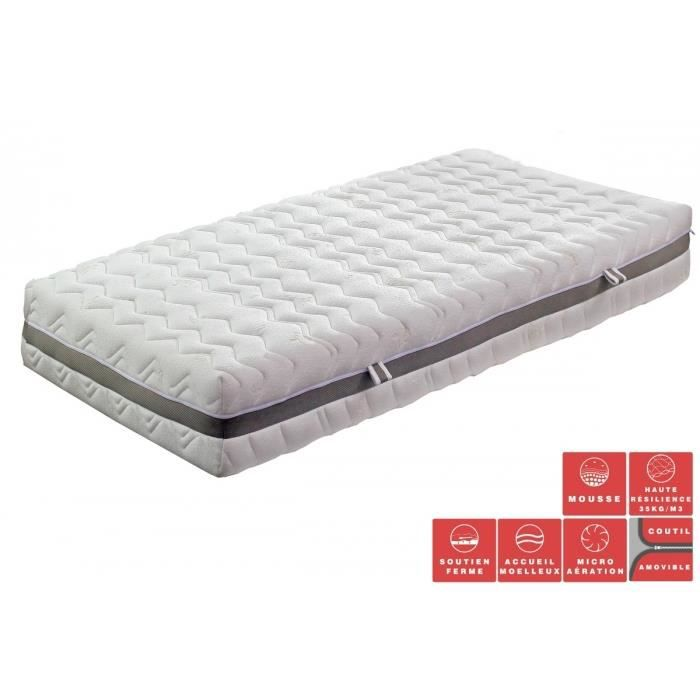 matelas feria 90x190 90x200 achat vente matelas cdiscount. Black Bedroom Furniture Sets. Home Design Ideas