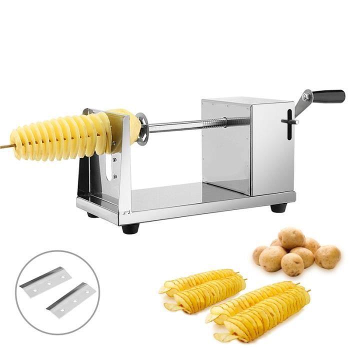 Tornade Spirale coupe pommes de terre Trancheuse Twist Potato Machine de découpe pomme de terre Clips