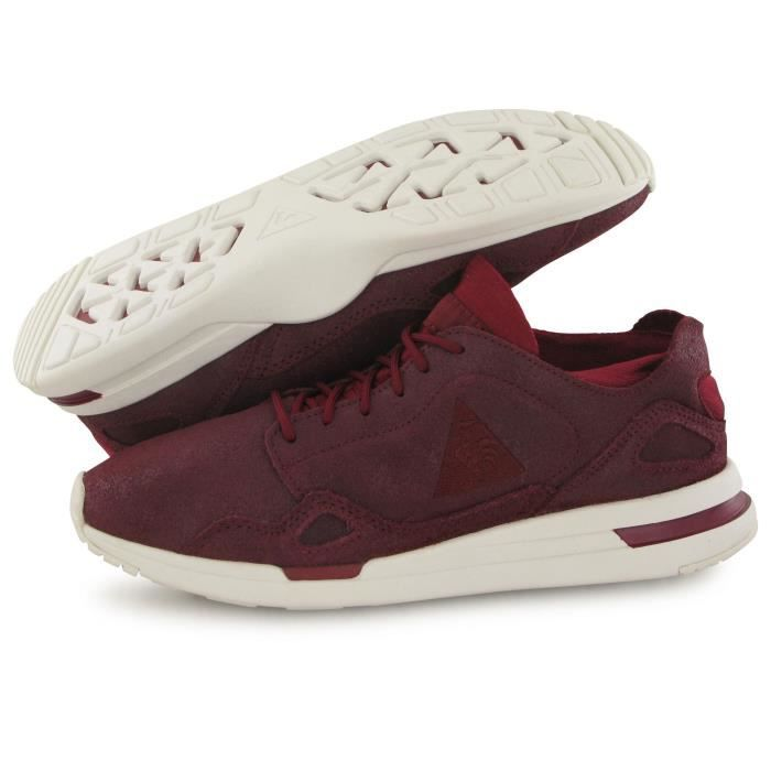 Le Coq Sportif Lcs R Flow Metalic bordeaux, baskets mode femme