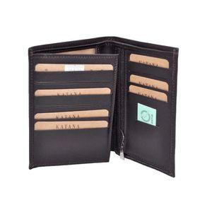 3 couleurs disponible KATANA Grand Porte Feuille à 3 Volets en Cuir réf 553017