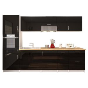 cuisine complete avec plan de travail et electromenager. Black Bedroom Furniture Sets. Home Design Ideas