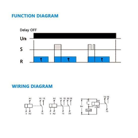 Yosoo Health Gear Relais de temporisation darr/êt GRT8-B1 GEYA Mini Mise Hors Tension Mini Relais de temporisation de Mise Hors Tension SPDT 35mm Type de Rail DIN Relais de Temps 0.1S-10 Jours