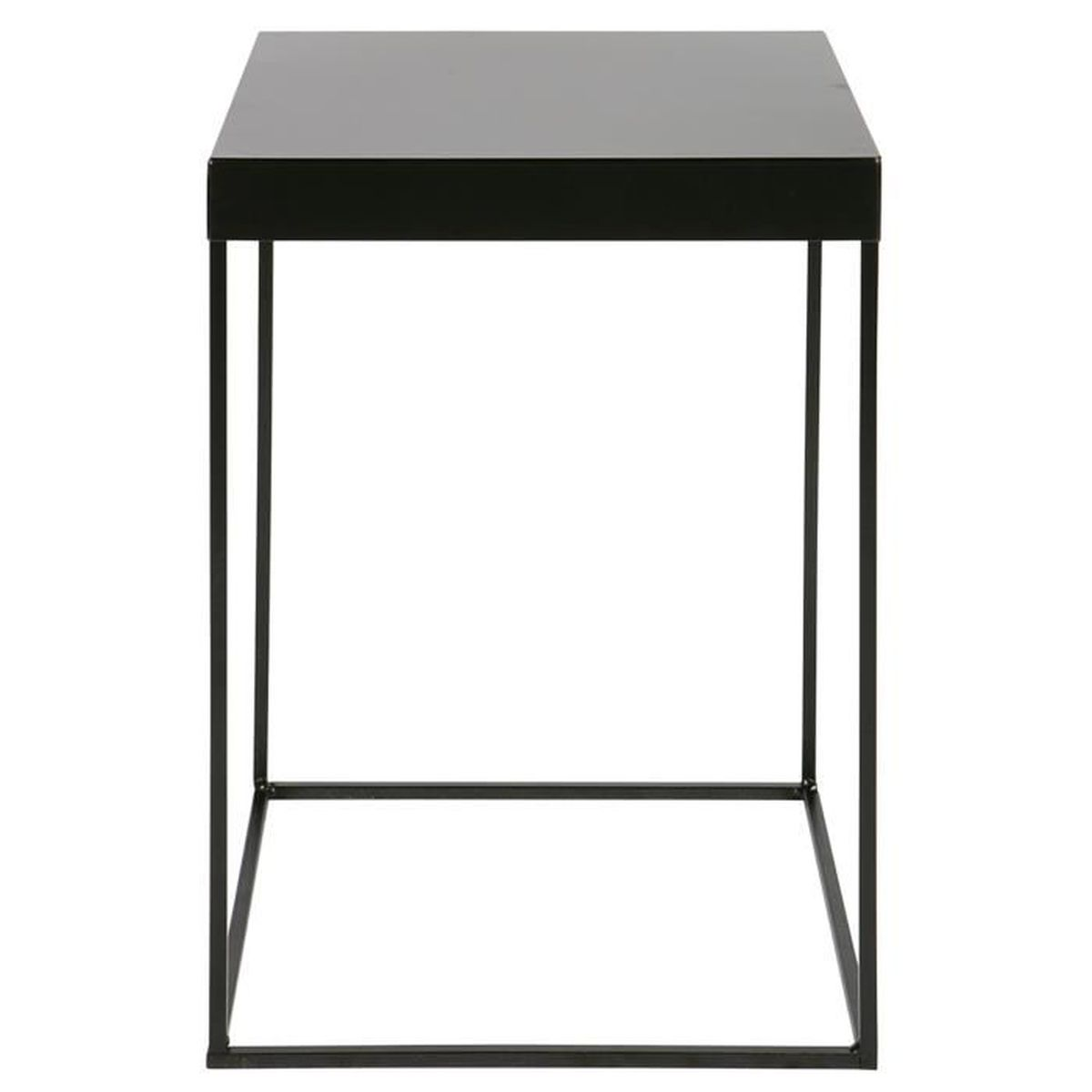 table d 39 appoint en m tal coloris noir dim l30 x p30 x h45 cm achat vente console. Black Bedroom Furniture Sets. Home Design Ideas