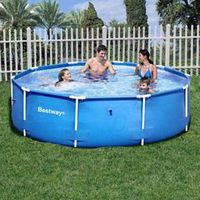 KIT PISCINE  Piscine Ronde Steel Frame Pools Bleue Ø3,05m
